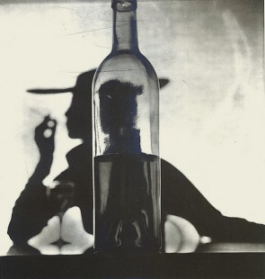 Irving Penn, Girl Behind Bottle, 1949