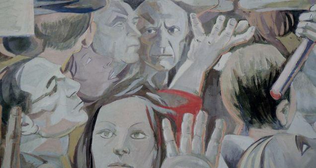 il murale della pace particolare